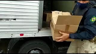 PRF prende homem com cocaína em caminhão de mudança na BR-101, em Torres