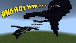 Ender Dragon vs Wither Storm | Minecraft PE