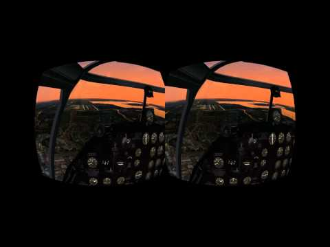 X-Plane 10 on the Oculus Rift - B 25 over Seattle