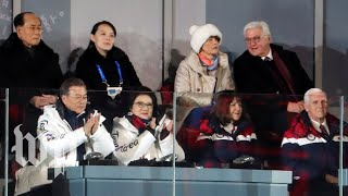 Pence sits near Kim Jong Un's sister, doesn't applaud unified Korean Olympians