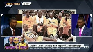 UNDISPUTED   Agree with Kareem that Lakers' LeBron