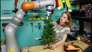 Decorating a Christmas tree with a robot