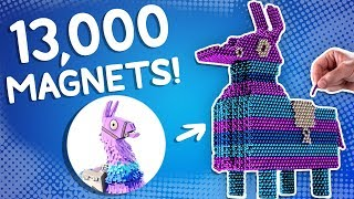 We Built the Fortnite Llama out of 13,000 Magnets!