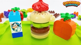 Let's open our own Hamburger Shop with Lego Duplo Food Bricks!