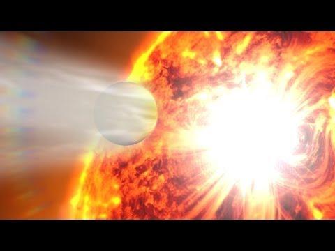 NASA   Exoplanet Atmosphere Blasted by Stellar Flare