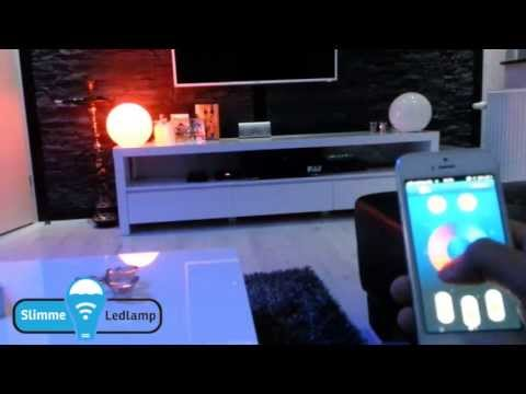 Wifi led lampen bedienen met een tablet of smartphone via APP