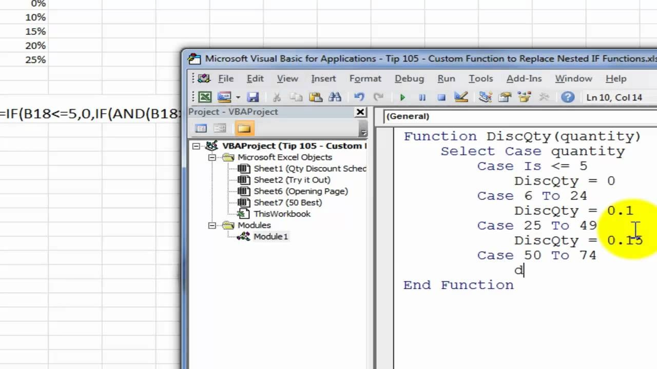 Create A Custom Excel Function To Replace Nested IF