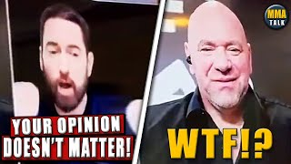 Eminem SLAMS Dana White during ESPN interview, Bisping on 'respectful' Conor McGregor's,Danis-Garcia