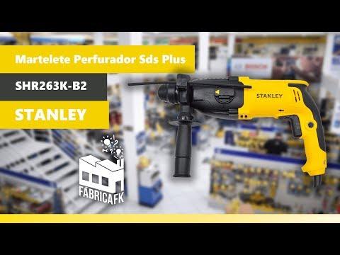 Martelete Perfurador Sds Plus 800W Shr263K-B2 Stanley - 220V - Vídeo explicativo