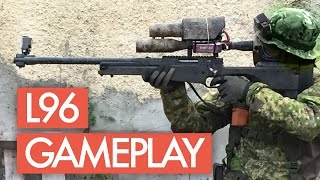 L96 Airsoft Sniper with Silenced Pistol - Gameplay Footage