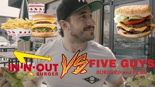 IN-N-OUT VS FIVE GUYS -- THE BEST BURGER FOR...