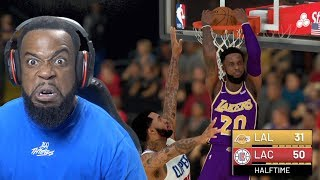 Coming Back From A 20 Point Deficit w/ Triple Double! Lakers vs Clippers NBA 2K19 MyCareer Ep 52