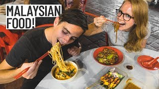 Malaysian Street Food Tour, SO DELICIOUS! (Americans Try Malaysian Food) - Kuala Lumpur