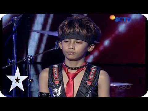 Cool Drummer Kid from Rachzonja Adhy Kirana Putra - AUDITION 7 - Indonesia's Got Talent
