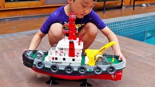 Boat Toys for Kids Unboxing Water Play