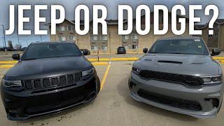 2021 Dodge Durango HELLCAT Vs 2021 Jeep Grand Cherokee SRT   Which Is The Better SUV?