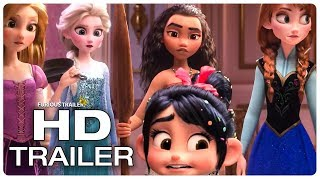 WRECK IT RALPH 2 Disney Princesses Frozen & Moana Trailer (NEW 2018) Disney Animated Movie HD