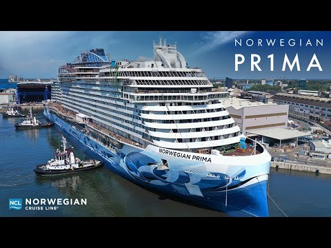 NCL's ground-breaking new ship Norwegian Prima completes major construction milestone at the Fincantieri shipyard in Marghera, Italy, on Aug. 11, 2021, floating into the water for the very first time.