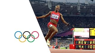 USA Break Women's 4 x 100m Relay World Record - London 2012 Olympics