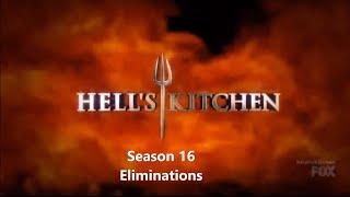 Hell's Kitchen Season 16 Eliminations