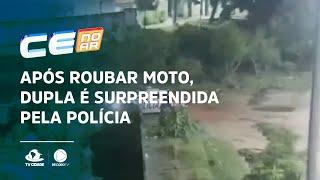 Após roubar moto, dupla é surpreendida pela polícia