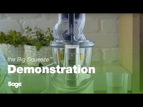 video Sage SJS700SIL – The Big Squeeze Slow Juicer