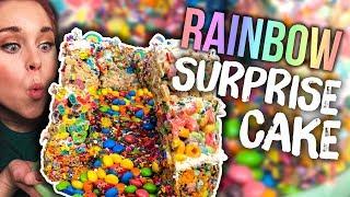 No-Bake UNICORN Piñata Surprise Cake!