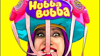 So Cool! DIY Hubba Bubba Gum Helmet!!!