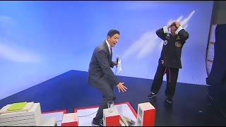 Brick breaking Epic fail by tv host (fake Grand Master Bruce Silva)