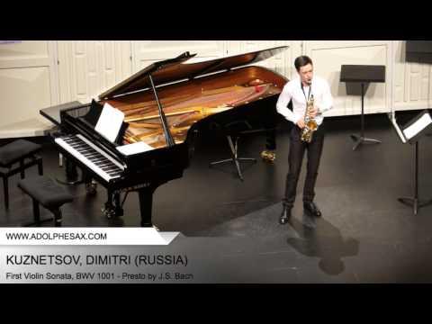 Dinant 2014 - Kuznetsov, Dimitri - First Violin Sonata, BWV 1001 - Presto by J.S. Bach