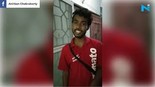 Zomato delivery boy wins netizens heart by singing Gori Te..