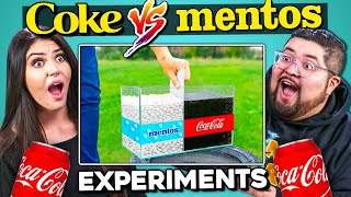 Adults React To Coca Cola and Mentos Experiments