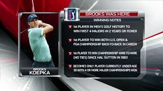Notes and info on Brooks Koepka's win at the PGA Championship | Brooks was here