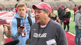 WSU Football: Mike Leach after Spring Game 4/20