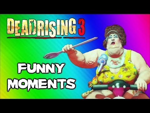 Dead Rising 3 Funny Moments Gameplay 5 - Fat Lady Boss, Huge Bomb, Boxing Match, Best Weapon Ever - Smashpipe Games