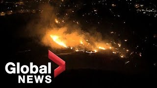 California's Woolsey fire continues to burn in Los Angeles County