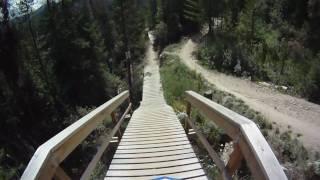 Sympatique downhill en vtt
