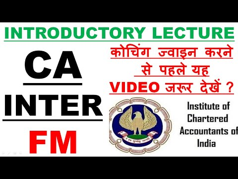 video Financial Management By CA Aaditya Jain CA Inter Regular