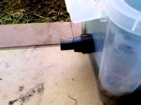 Filtro casero para estanque Estanque sin filtro