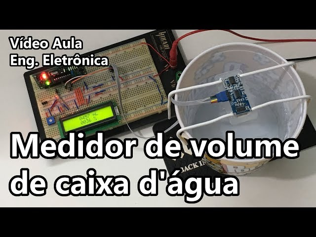 MEDIDOR DE VOLUME DE CAIXA D'ÁGUA | Vídeo Aula #275