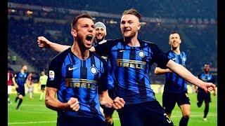 Milan Škriniar And Stefan De Vrij Vs AC Milan(17/03/2019)18-19 HD 720p by轩旗