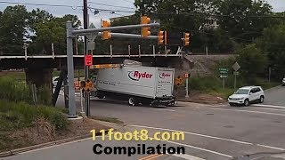 trucks hit 11foot8 bridge compilation 20 min
