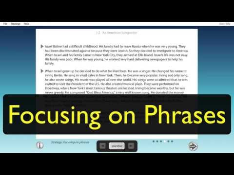 Developing Reading Fluency: Student - Focusing on Phrases