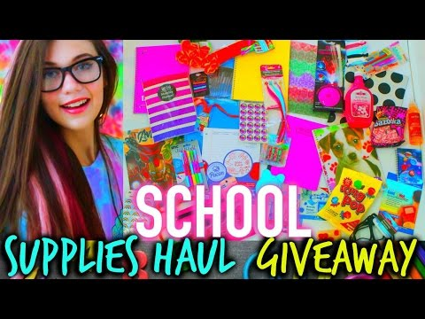 Back to School Supplies Haul, Giveaway, and Life Hacks 2015