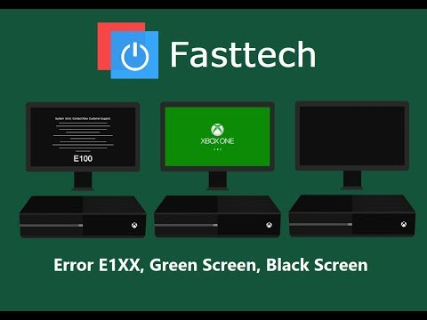 xbox one stuck on green screen