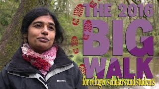 The Big Walk in June 2016 raised funds for refugee scholars and students