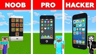 Minecraft NOOB vs PRO vs HACKER: iPhone Challenge in Minecraft / New animation