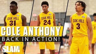 Cole Anthony is BACK IN ACTION for Oak Hill! 🔥