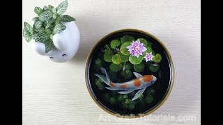FULL VERSION : 3d koifish painting in resin step by step