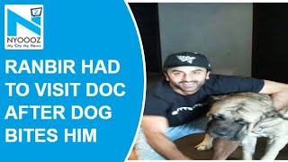 Ranbir Kapoor reportedly got bitten by his pet dog!..